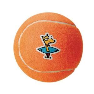 צעצוע לכלב רוגז כדור טניס גדול צבע כתום-0