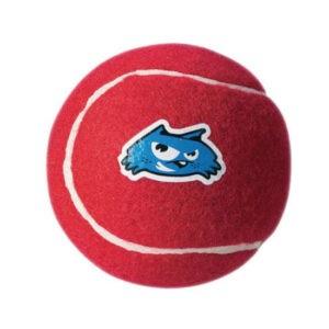 צעצוע לכלב רוגז כדור טניס גדול צבע אדום-0