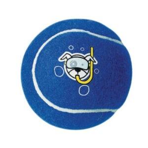 צעצוע לכלב רוגז כדור טניס גדול צבע כחול-0