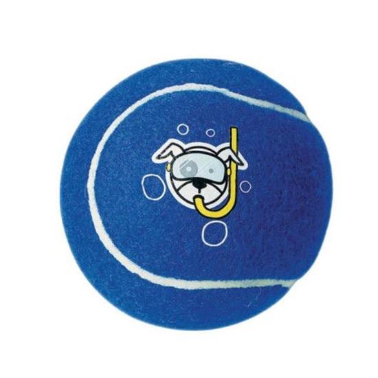 צעצוע לכלב רוגז כדור טניס בינוני צבע כחול-0