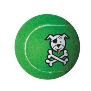 צעצוע לכלב רוגז כדור טניס בינוני צבע ירוק ליים-0