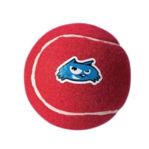 צעצוע לכלב רוגז כדור טניס בינוני צבע אדום-0