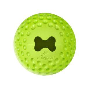 צעצוע לכלב רוגז כדור גומי לעיסה בינוני צבע ירוק ליים-0