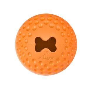צעצוע לכלב רוגז כדור גומי לעיסה בינוני צבע כתום-0