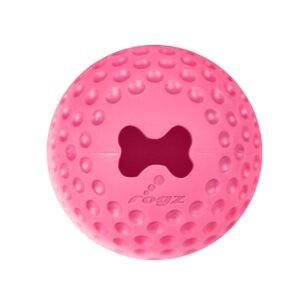צעצוע לכלב רוגז כדור גומי לעיסה בינוני צבע ורוד-0