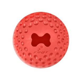 צעצוע לכלב רוגז כדור גומי לעיסה בינוני צבע אדום-0