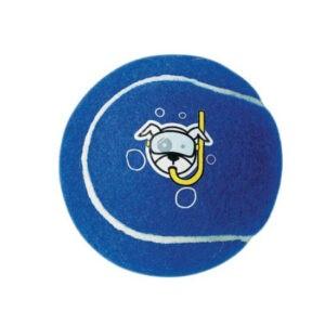 צעצוע לכלב רוגז כדור טניס קטן צבע כחול-0