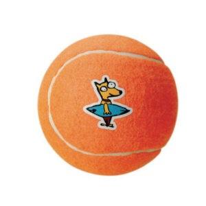 צעצוע לכלב רוגז כדור טניס קטן צבע כתום-0