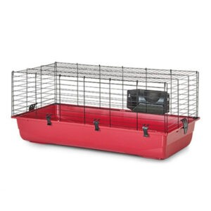 """כלוב לארנב סאביק אמביאנט 100 ס""""מ צבע אדום-0"""