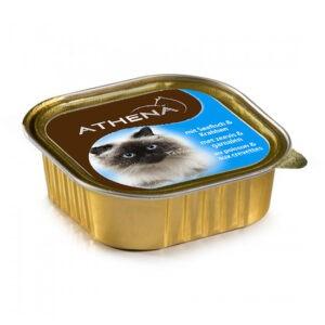 מעדן לחתול אתנה פטה בטעם דגי ים ושרימפס 100 גרם-0