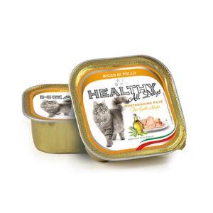 מעדן בריאות לחתול healthy פטה בטעם עוף 100 גרם-0