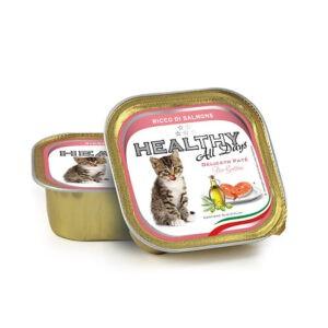 מעדן בריאות לחתול healthy פטה בטעם סלמון 100 גרם-0