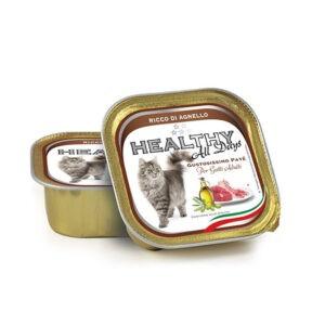 מעדן בריאות לחתול healthy פטה בטעם טלה 100 גרם-0