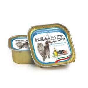 מעדן בריאות לחתול healthy פטה בטעם דגים ושרימפס 100 גרם-0