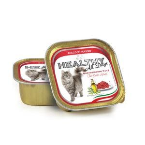 מעדן בריאות לחתול healthy פטה בטעם בקר 100 גרם-0