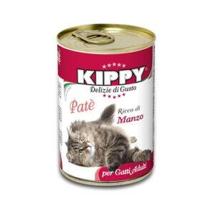 שימורי קיפי לחתול - פטה בקר 400 גרם-0