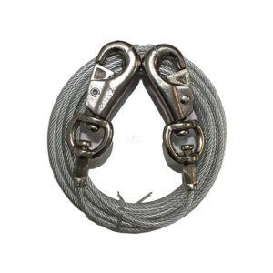כבל מעובה ומחוזק לקשירת הכלב עשוי ברזל מצופה - 6 מטר-0