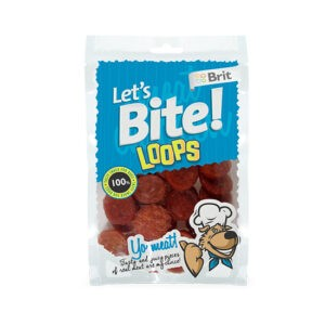 חטיף לטס בייט לכלב מטבעות פילה עוף 80 גרם-0