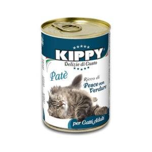 שימורי קיפי לחתול - פטה דגים וירקות 400 גרם-0