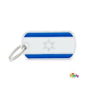 תג שם לכלב - דגל ישראל-0