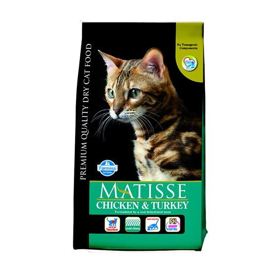 """מזון לחתולים מאטיס - בוגר עוף והודו 10 ק""""ג-0"""