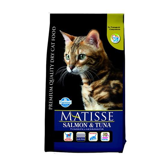 """מזון לחתולים מאטיס - בוגר סלמון וטונה 10 ק""""ג-0"""