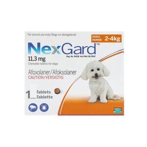 """נקס גארד כדור נגד פרעושים וקרציות לכלב זעיר 2-4 ק""""ג - לא למכירה-0"""