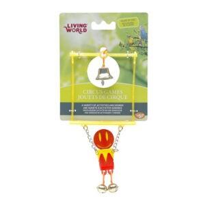 ליווינג וורלד צעצוע לתוכי - צעצוע קרקס איש תלוי על טרפז-0