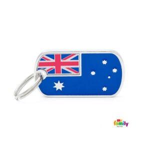 תג שם לכלב - דגל אוסטרליה-0