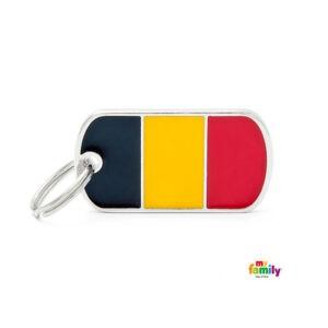 תג שם לכלב - דגל בלגיה-0