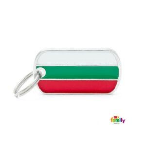 תג שם לכלב - דגל בולגריה-0