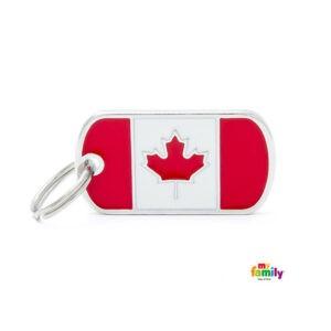 תג שם לכלב - דגל קנדה-0