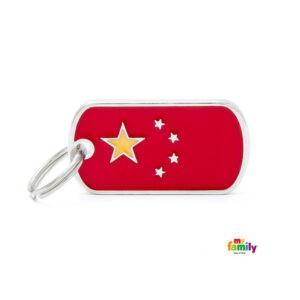 תג שם לכלב - דגל סין-0