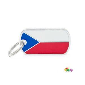 תג שם לכלב - דגל צ'כיה-0