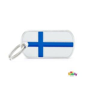תג שם לכלב - דגל פינלנד-0