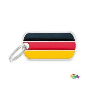 תג שם לכלב - דגל גרמניה-0