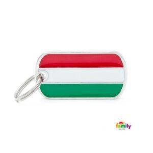 תג שם לכלב - דגל הונגריה-0