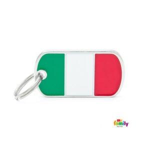 תג שם לכלב - דגל איטליה-0