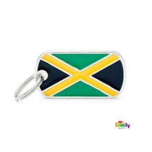 תג שם לכלב - דגל ג'מייקה-0