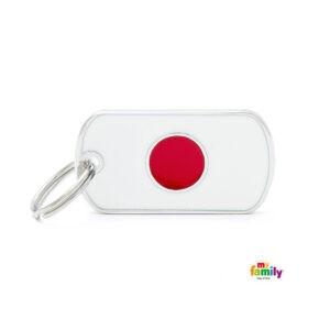תג שם לכלב - דגל יפן-0