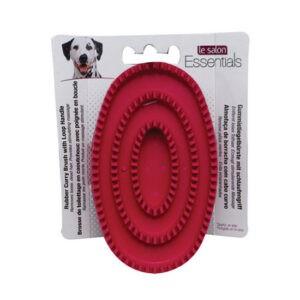 לה סלון לכלב - מברשת גומי אליפסה-0