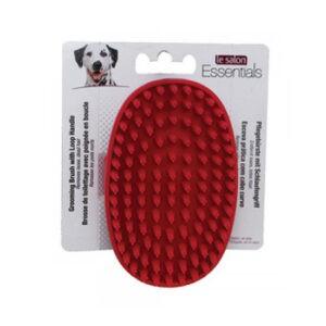 לה סלון לכלב - מברשת גומי אליפסה סיבים מפוצלים-0