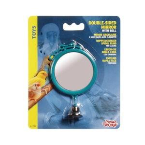 ליווינג וורלד צעצוע לתוכי - מראה דו צדדית עגולה עם פעמון-0