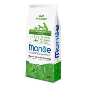 """מזון לכלבים מונג' בוגר מכל הגזעים ארנב אורז ותפו""""א 12 ק""""ג-0"""
