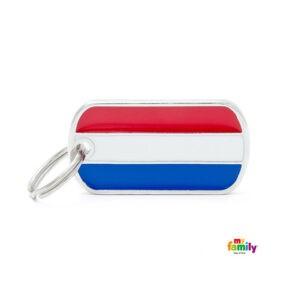 תג שם לכלב - דגל הולנד-0