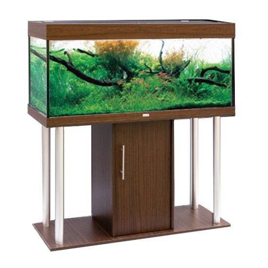 """שולחן לאקווריום ריהו דגם רילי 120 ס""""מ צבע חום-5785"""
