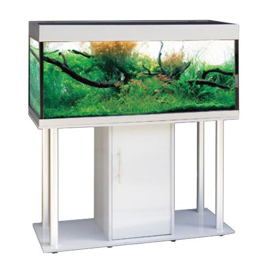 """שולחן לאקווריום ריהו דגם רילי 120 ס""""מ צבע כסוף-5783"""