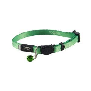 קולר לחתול רוגז kiddycat - צבע ירוק-0