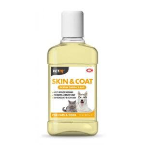 """שמן לטיפוח העור והפרווה vetiq לכלבים וחתולים 250 מ""""ל-0"""