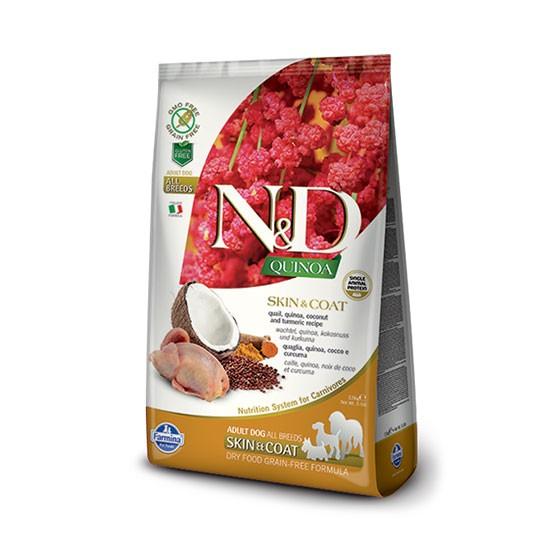 """מזון כלבים נטורל אנד דלישס קינואה ושליו לטיפול בעור ובפרווה 2.5 ק""""ג-0"""